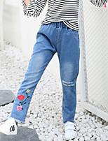 economico -Bambino Da ragazza Tinta unita Senza maniche Jeans