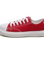 cheap -Unisex Shoes Canvas / Denim Summer Comfort Sneakers White / Black / Red