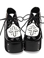 abordables -Gothique / Punk Lolita Creepers Chaussures Couleur Pleine 10cm CM Noir Pour PU