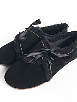 Недорогие -Жен. Обувь Нубук Осень Удобная обувь Кеды На плоской подошве Черный / Зеленый / Темно-русый