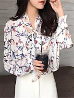 cheap -women's blouse - floral shirt collar