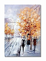 cheap -Oil Painting Hand Painted - Abstract Landscape Comtemporary Modern Canvas