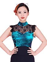 cheap -Latin Dance Leotards Women's Training Lace / Corduroy Lace Sleeveless Natural Leotard / Onesie