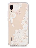 Недорогие -Кейс для Назначение Huawei P20 / P20 lite Прозрачный / С узором Кейс на заднюю панель Кружева Печать Мягкий ТПУ для Huawei P20 / Huawei P20 Pro / Huawei P20 lite