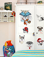 cheap -Decorative Wall Stickers Height Stickers - Animal Wall Stickers Animals Living Room Bedroom Bathroom Kitchen Dining Room Study Room /