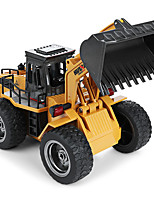 cheap -RC Car 1520 6CH 2.4G Bulldozer 1:18 Brush Electric 60 km/h KM/H