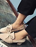 abordables -Femme Chaussures Daim Printemps été Escarpin Basique Chaussures à Talons Talon Bottier Noir / Beige / Café