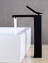 cheap -Bathroom Sink Faucet - Widespread Black Centerset Single Handle One Hole