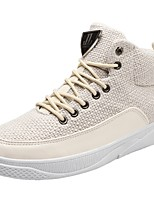 cheap -Men's Shoes Linen Fall Comfort Sneakers White / Black / Beige