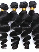 cheap -Peruvian Hair Wavy One Pack Solution 4 Bundles Human Hair Weaves Extention / Hot Sale Natural Black Human Hair Extensions All