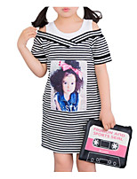 cheap -Kids Girls' Color Block Short Sleeve Dress