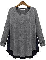 economico -T-shirt Per donna Tinta unita / Monocolore Cotone / Cotone / Monocolore