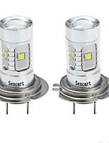 cheap -SENCART 2pcs H7 Car / Motorcycle Light Bulbs 30W SMD LED 1800-2100lm 6 LED Fog Light For universal All years