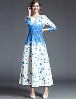 cheap -SHIHUATANG Women's Vintage Street chic Swing Dress - Floral Print