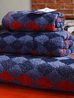 abordables -Qualité supérieure Ensemble de serviette de bain, Géométrique Polyester / Coton 3 pcs