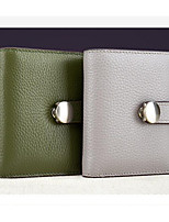cheap -Women's Bags Genuine Leather Wallet Buttons / Zipper for Outdoor Black / Blushing Pink / Gray