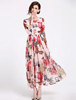 cheap -SHIHUATANG Women's Street chic / Boho Swing Dress - Floral Print