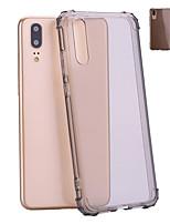 Недорогие -Кейс для Назначение Huawei P20 / P20 lite Защита от удара / Полупрозрачный Кейс на заднюю панель Однотонный Мягкий ТПУ для Huawei P20 / Huawei P20 lite
