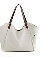 baratos -Mulheres Bolsas Poliéster / Tela de pintura Bolsa de Ombro Ziper Branco / Cinzento / Marron