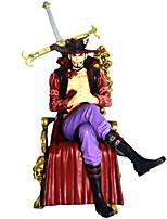 baratos -Figuras de Ação Anime Inspirado por One Piece Dracula Mihawk PVC 16.5cm CM modelo Brinquedos Boneca de Brinquedo