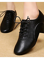 cheap -Women's Modern Shoes Cowhide Oxford Sneaker Performance Practice Low Heel Black Red
