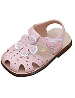 cheap -Girls' Shoes Leatherette Summer Comfort Sandals for Toddler White / Pink