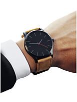 Недорогие -Муж. Спортивные часы Китайский Секундомер / Повседневные часы / Cool PU Группа Винтаж / минималист Черный / Коричневый