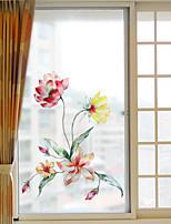 abordables -Film de fenêtre et autocollants Décoration Fleur / Moderne Fleur PVC Autocollant de Fenêtre / Mat