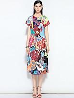 cheap -MARY YAN&YU Women's Vintage / Street chic A Line Dress - Floral Print