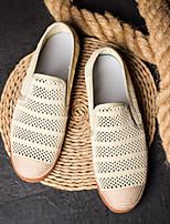 Недорогие -Муж. обувь Ткань / Сетка Лето Удобная обувь Мокасины и Свитер Черный / Темно-серый / Хаки