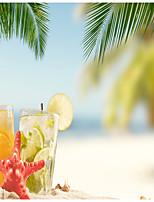 Недорогие -Пляж Еда и напитки Декор стены Полиэстер Современный Modern Предметы искусства, Стена Гобелены Украшение