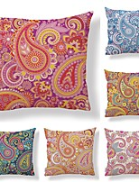 cheap -6 pcs Textile / Cotton / Linen Pillow case, Art Deco / Fashion / Printing Square Shaped / European Style