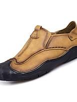 abordables -Homme Chaussures Cuir Nappa Eté Confort Mocassins et Chaussons+D6148 Marron / Kaki