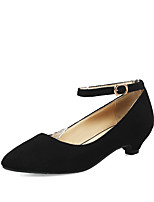 cheap -Women's Shoes Leatherette Spring & Summer Mary Jane Heels Kitten Heel Pointed Toe Buckle Black / Gray / Green / Party & Evening