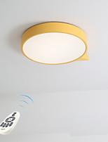 abordables -LED Chic & Moderne Montage du flux Lumière d'ambiance - Intensité Réglable, 220-240V, Dimmable avec télécommande, Ampoule incluse