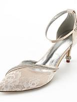abordables -Femme Chaussures Dentelle Eté Escarpin Basique / D'Orsay & Deux Pièces / Confort Chaussures de mariage Talon Cône Bout pointu Strass /