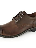 Недорогие -Муж. обувь Наппа Leather / Кожа Осень Удобная обувь Туфли на шнуровке Желтый / Темно-коричневый