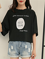 cheap -Women's Basic T-shirt - Letter Print