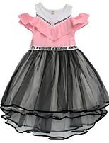 cheap -Kids Girls' Solid Colored Short Sleeve Dress