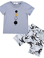 cheap -Kids Unisex Print Short Sleeves Clothing Set