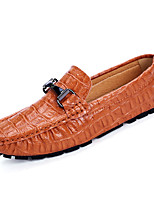 cheap -Men's Shoes Cowhide Spring Moccasin Comfort Loafers & Slip-Ons for Outdoor Black Brown Blue