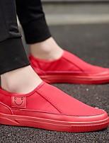 Недорогие -Муж. обувь Ткань Лето Удобная обувь Мокасины и Свитер Белый / Черный / Красный