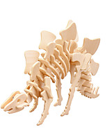 cheap -3D Puzzle Tyrannosaurus / Stegosaurus / Jurassic Dinosaur Parent-Child Interaction / Cool Word / Phrase / 3D Cartoon Wooden 2pcs Adults