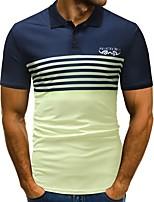 cheap -Men's Basic Polo - Striped / Color Block