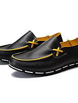 cheap -Men's Shoes PU Fall Comfort Loafers & Slip-Ons for Office & Career White Black
