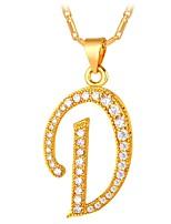 Недорогие -Муж. Жен. Ожерелья с подвесками  -  Мода Геометрической формы Золотой Серебряный 55cm Ожерелье Назначение Повседневные