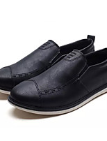 cheap -Men's Shoes Cowhide Leatherette Spring Summer Comfort Loafers & Slip-Ons for Outdoor Black Gray