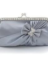 Недорогие -Жен. Мешки Шелк Вечерняя сумочка Бант(ы) Миндальный / Пурпурный / Винный