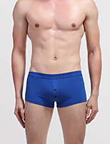 abordables -Homme Boxers Couleur Pleine Taille Normale