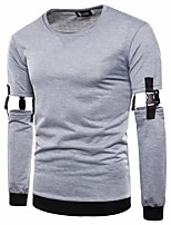 cheap -Men's Exaggerated Sweatshirt - Solid Colored